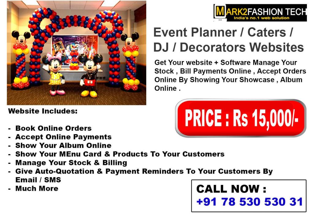 Event Planner/ Caters/ DJ/ Decorators Websites
